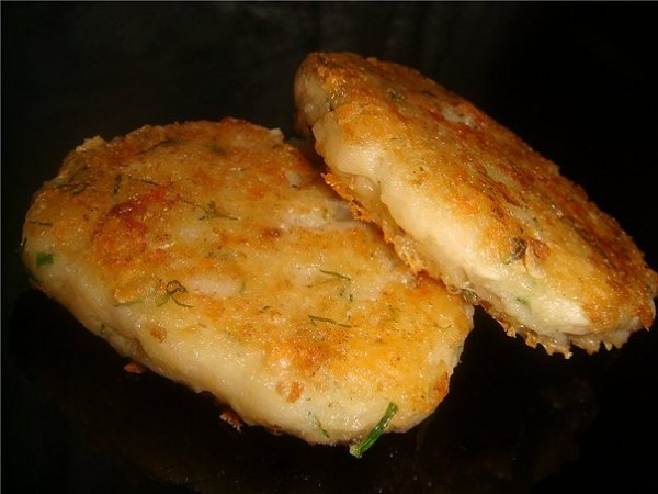 Котлеты из рыбы с сыром